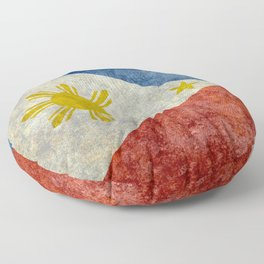 Philippines Grungy flag Floor Pillow