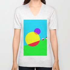 Circles #1 Abstract Modern Painting by Bruce Gray Unisex V-Neck