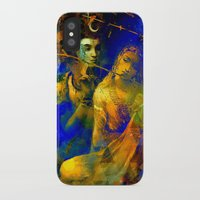 hindu iPhone & iPod Cases featuring Shiva The Auspicious One - The Hindu God by sarvesh