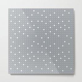 Pin Points Grey Metal Print