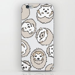 HEDGEHOG PATTERN BEIGE iPhone Skin