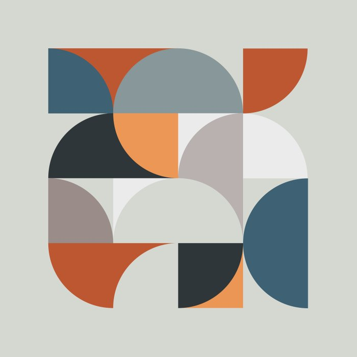 Mid Century Geometric 11 Duvet Cover