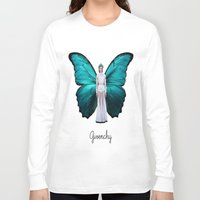 givenchy Long Sleeve T-shirts featuring Papilio Givenchy Unframed by GirlAnnachronism