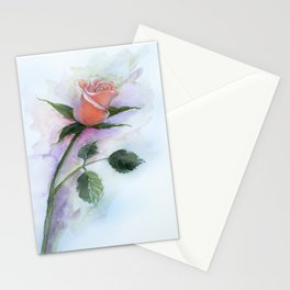 A Peach Rose Stationery Cards