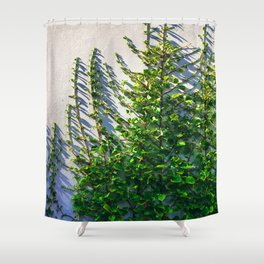 Climbing Vines on a Wall Shower Curtain