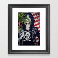 Eat The Rich Grafitti Framed Art Print