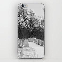Winter Solitude - St. Louis Snowy Bridge iPhone Skin