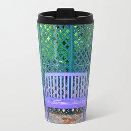 Lilac And Teal Garden Travel Mug