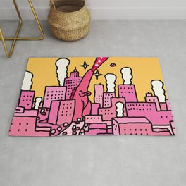 Pink Godzilla Rug