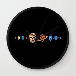 Skull Planets Wall Clock