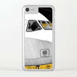 asc 698 - Le tarmac la nuit (Your flight was delayed due to technical problems) Clear iPhone Case