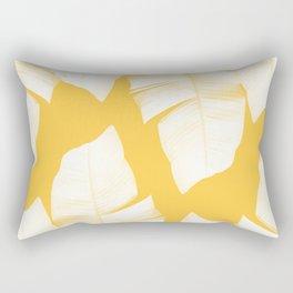 Tropical Yellow Banana Leaves Vibes #1 #decor #art #society6 Rectangular Pillow