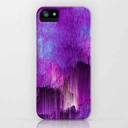 Shatter Falls - Abstract Glitch Pixel Art iPhone Case