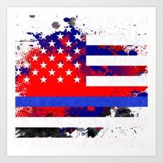 Thin Blue Line Police Lives Matter Art Print