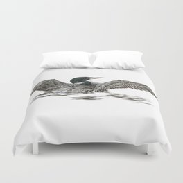 Morning Stretch - Common Loon Duvet Cover