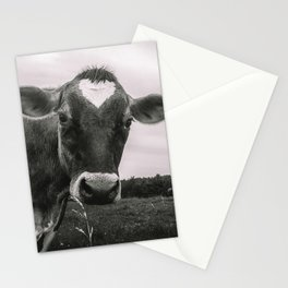 She wears her heart for all to see Stationery Cards