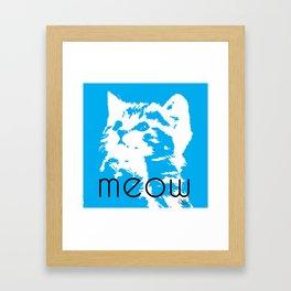 Meeooow Kitty Framed Art Print