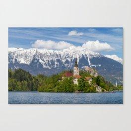 Bled Landscape Canvas Print