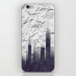 Graphic Art SKYHIGH Vintage Look | white iPhone Skin