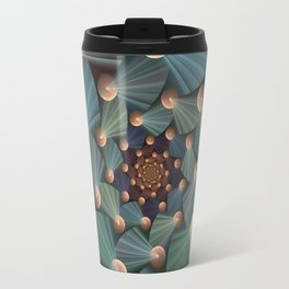 Graphic Design, Modern Fractal Art Pattern Travel Mug