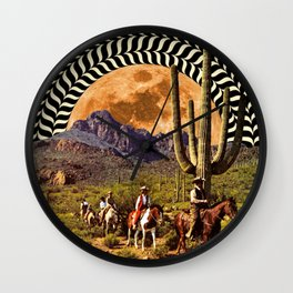 Illusionary Cowboys Wall Clock