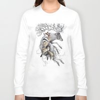 wildlife Long Sleeve T-shirts featuring protect our wildlife  by KatePowellArt