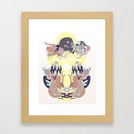 Skulls on the Water Framed Art Print