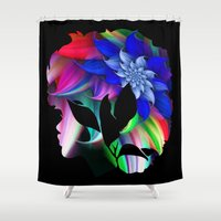 afro Shower Curtains featuring Afro by SmartyArt Chick