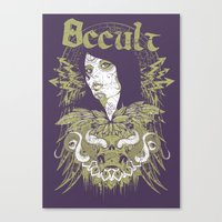 occult Canvas Prints featuring Occult beauty by Tshirt-Factory