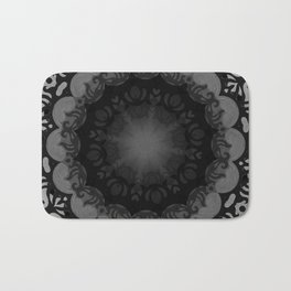 Dark Mandala #1 Bath Mat
