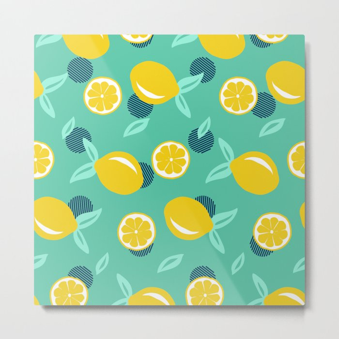 Lemon dots #society6 #decor #buyart Metal Print