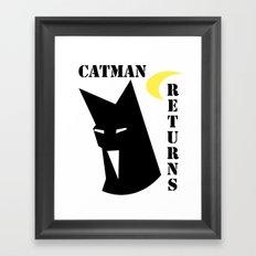 Catman Returns Framed Art Print