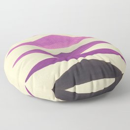 Colorful Purple Geometric Triangle Pattern With Black Accent Floor Pillow