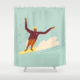 Surf buddy Shower Curtain