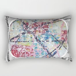 Crossroads No.3 - black and white Rectangular Pillow