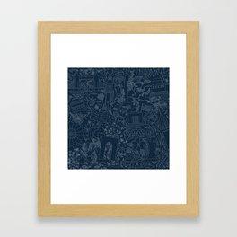 DC NYC London - Navy Framed Art Print