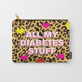 All My Diabetes Stuff™ (Leopard Love) Carry-All Pouch