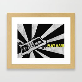 PLAY HARD Framed Art Print