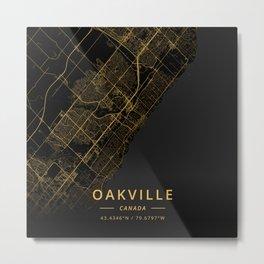 Oakville, Canada - Gold Metal Print