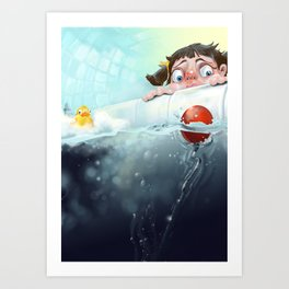 THE BATHTUB Art Print