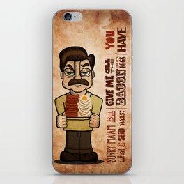 Ron Swanson 4 iPhone Skin