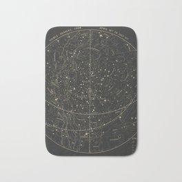 Vintage Astronomical & Celestial Map (1850) Bath Mat