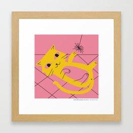 #30daysofcats 25/30 Framed Art Print