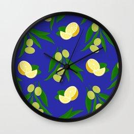 Verde oliva Verde limón Wall Clock