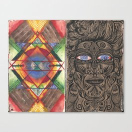 Tantric 4 (Travel Journal Entry) Canvas Print