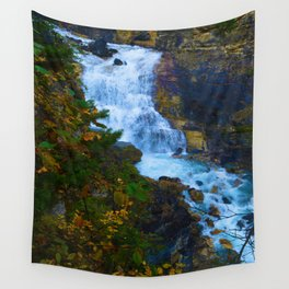 White Falls along the Berg Lake Trail in BC Wall Tapestry