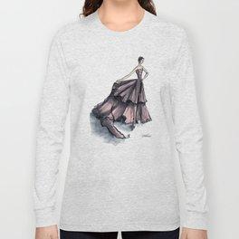 Audrey Hepburn in Pink dress vintage fashion Long Sleeve T-shirt