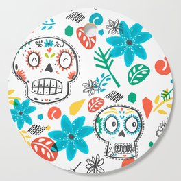 Summer sugar skulls Cutting Board