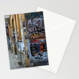 BERLIN - Street photography - slap tag Stationery Cards
