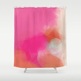 dreamy days in pink peach aquarell Shower Curtain